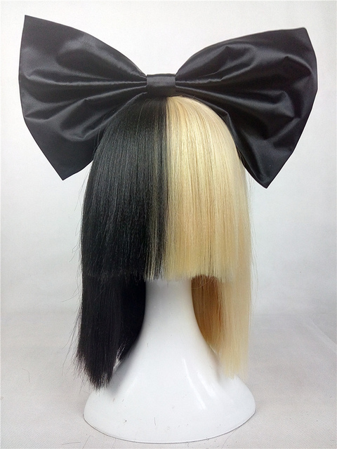 Amazon Half Blonde And Black 2 Tone Hair Short Straight