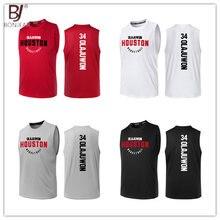 44df6e3b6385 BONJEAN Design 34 Hakeem Olajuwon Printing Jersey Top Quality Uniforms  Sports Basketball Jerseys Breathable Training Shirts