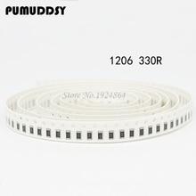 100PCS 1206 SMD Resistor  330 ohm chip resistor 0.25W 1/4W 330R 331