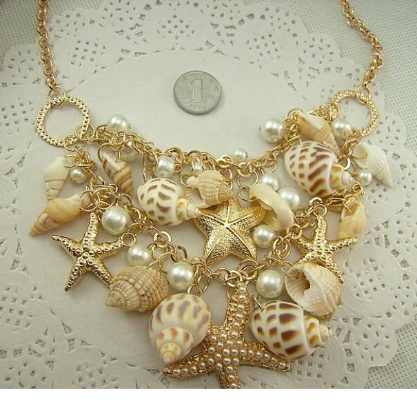 Jūrų stiliaus aukso spalva Dideli jūriniai jūrų žvaigždės - Mados papuošalai - Nuotrauka 3