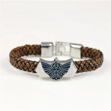 9546722448b5 Nueva pulsera de hombre regalo niño regalo Zelda Cosplay pulsera de cuero  tejido tradicional