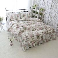 Пастырское Цветок постельных принадлежностей для взрослых девочек хлопок двойной полный королева король, один двойной домашний текстиль н