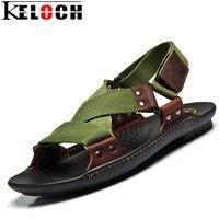 Keloch Sapatos Sandálias Da Praia do Verão 2017 Os Designers de Moda Homens Sandálias Chinelos de Couro Da Marca Para Homens Zapatos Sandalias Hombre