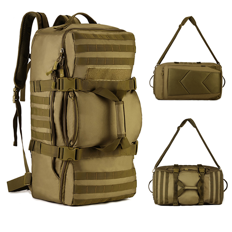 80a525b1e2 60L Big Capacity Bags Outdoor Tactical Backpack Fitness Gym Bag Men Sport  Bags Women Handbag Hiking Camping Traveling Sport Bag
