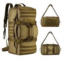60L Big Capacity Bags Outdoor Tactical Backpack Fitness Gym Bag Men Sport Bags Women Handbag Hiking Camping Traveling Sport Bag