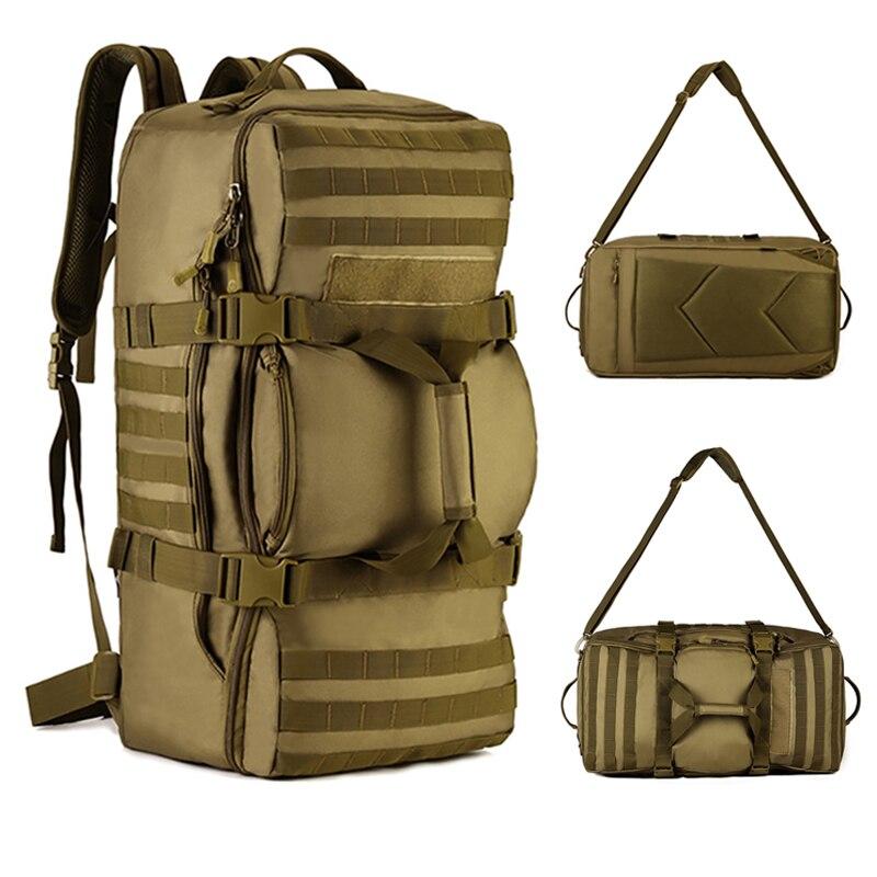 60L grande capacité sacs en plein air tactique sac à dos Fitness Gym sac hommes Sport sacs femmes sac à main randonnée Camping voyage Sport sac