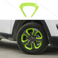 20pcs Green ABS Fit For Jeep Compass 2017 Wheel Round Decorator Frame Cover Trim