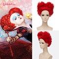 L-email парик Алиса в Стране Чудес 2 Красная Королева Косплей парики Из Синтетических Волос Плутон Алиса в Зазеркалье Косплей парики
