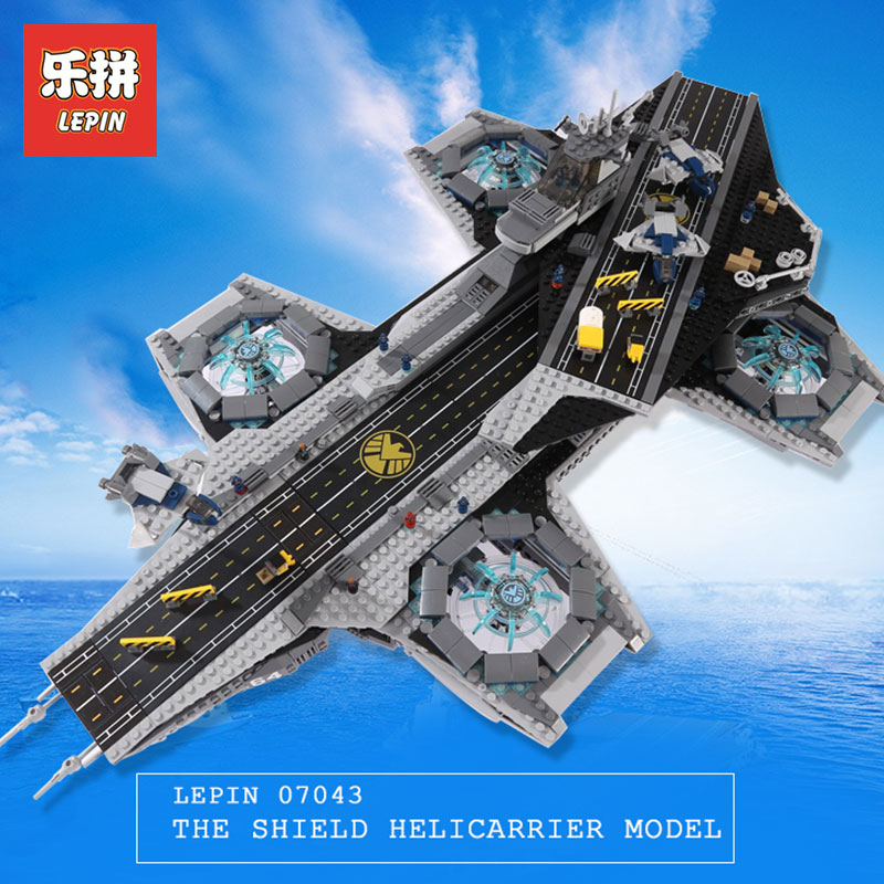 3057Pcs LEPIN 07043 Super Heroes The SHIELD Helicarrier Model Building Kits Blocks Bricks Boy Toys Compatible LegoINGlys 76042 lepin 07043 3057pcs super heroes the shield helicarrier model building blocks bricks toys kits for children compatible 76042