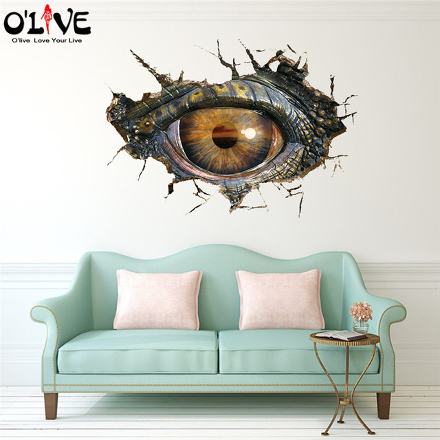 Aliexpresscom  Buy Wall Stickers D Dinosaur Eyes Anime Posters - 3d dinosaur wall decals