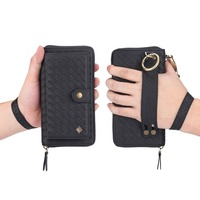 BuzzLee Luxury Business Wallet Flip Leather Phone Case for Samsung Galaxy Note 9 Note 8 S9 Plus S8 Plus Coque Cover Waist Bag