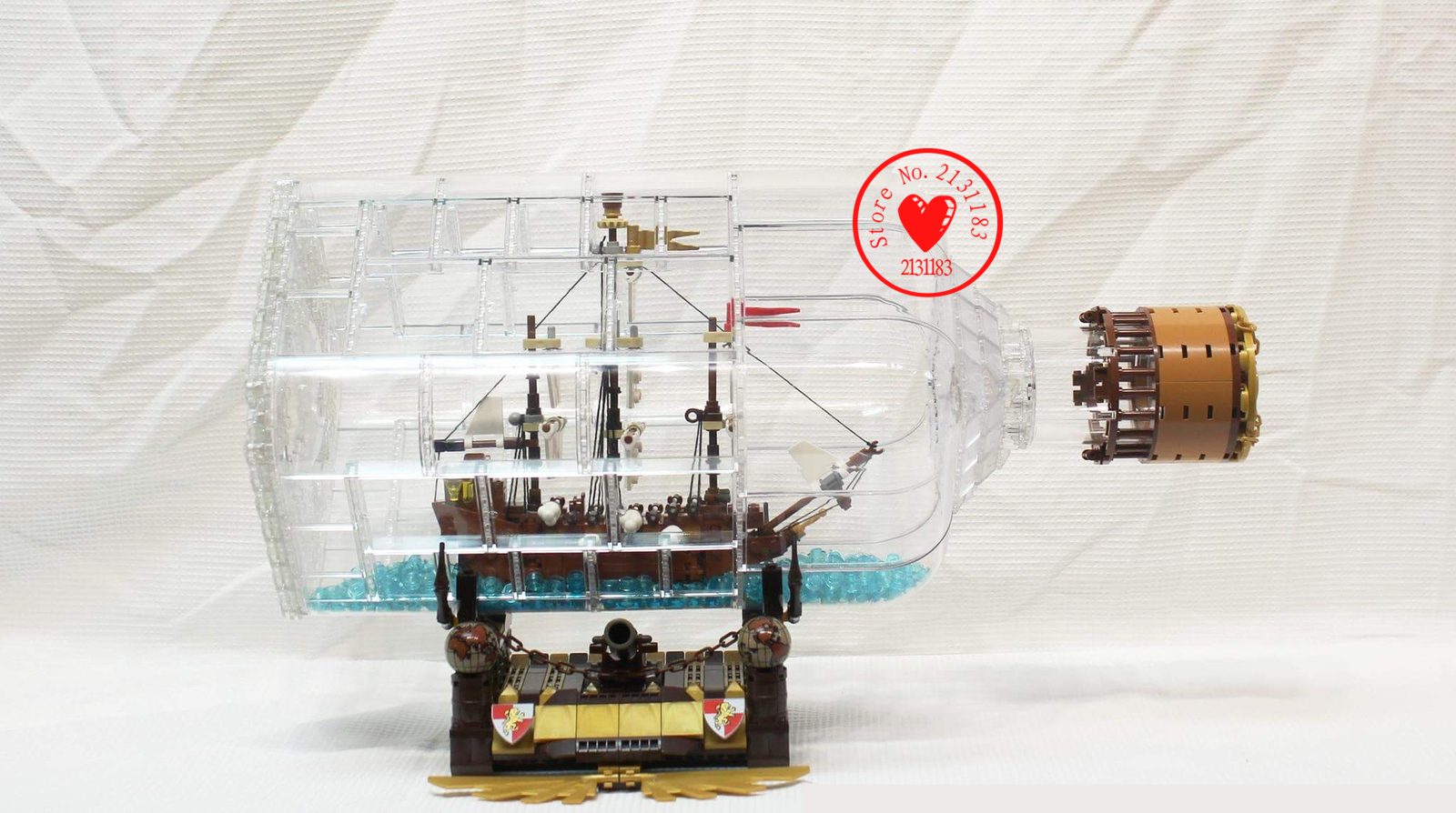 Lepin 16045  775pcs ideas Series creator Ship in Bottle Set model Building Blocks Bricks Pirates of the Caribbean Toys Gift kid lepin 16042 pirates of the caribbean ship series the slient mary set children building blocks bricks toys model gift 71042