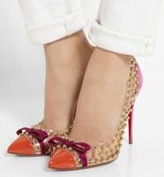 2016 Women S Pumps Sexy Bridal Pumps Evening Wedding Shoe Sandals Shoes Graceful Rivets Pointed Toe