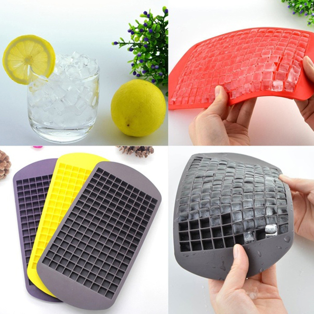 160-Grids Ice Cube Tray Ice Cube Mold For Kitchen Bar Party Drinks DIY Silicone Ice Cube Frozen Cube Container