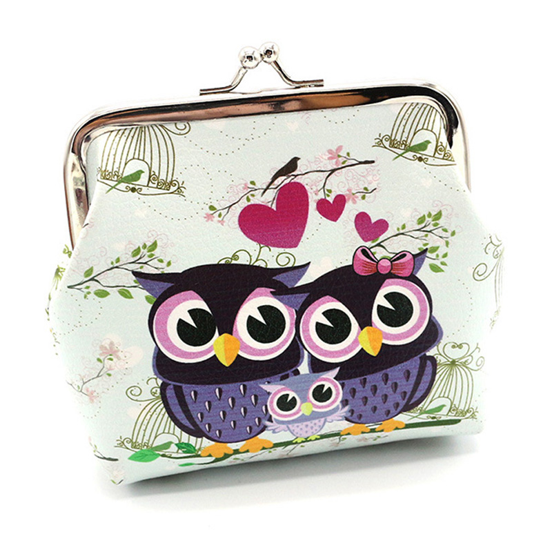 Coin Purses Realistic Fashion Leather Women Coin Purse Printing Owl Leopard Mini Coin Wallet Portable Woman Clutch Money Bag Key Coin Card Pouch Case Top Watermelons