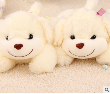 Plush doll lying Pawing on a white doll with a doll on a puppy Birthday Christmas Gift