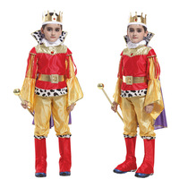 Free Shipping Kids Arabic Prince King Costume Halloween Christmas Masquerade Party Kids Fancy Dress Children Cosplay Clothes