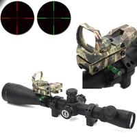 Rifle 6-24X50 Optics Rifle Scope Mil + Dot Red Dot Sight + Scope Bubble Level Ring Fit Tactics Hunting