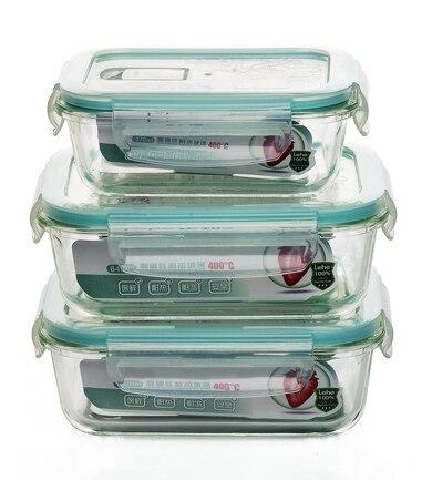 glas box von hitzebest ndigem glas sch ssel mikrowelle lunchbox 3 st cke set k che lebensmittel. Black Bedroom Furniture Sets. Home Design Ideas