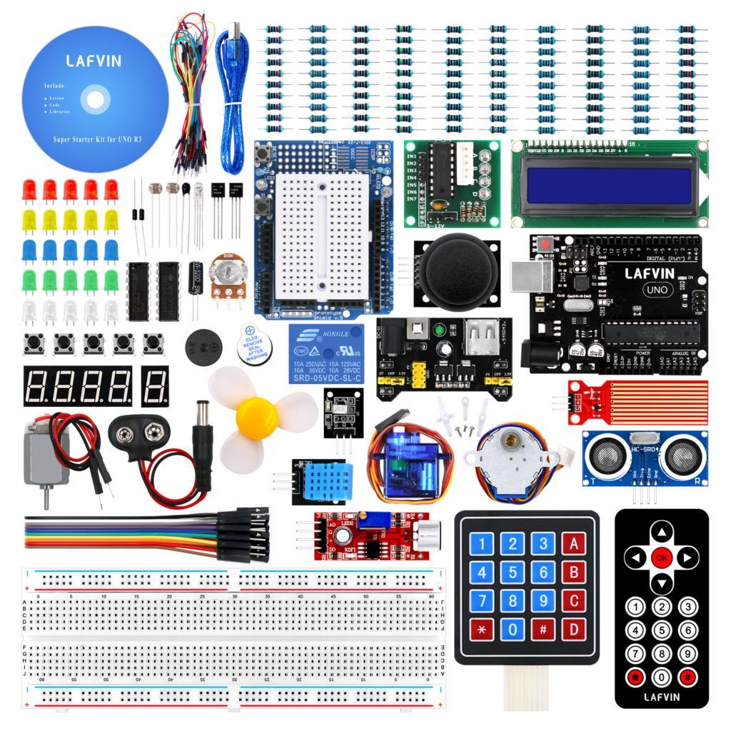 LAFVIN R3 com CD Tutorial Super Starter Kit para Arduino UNO