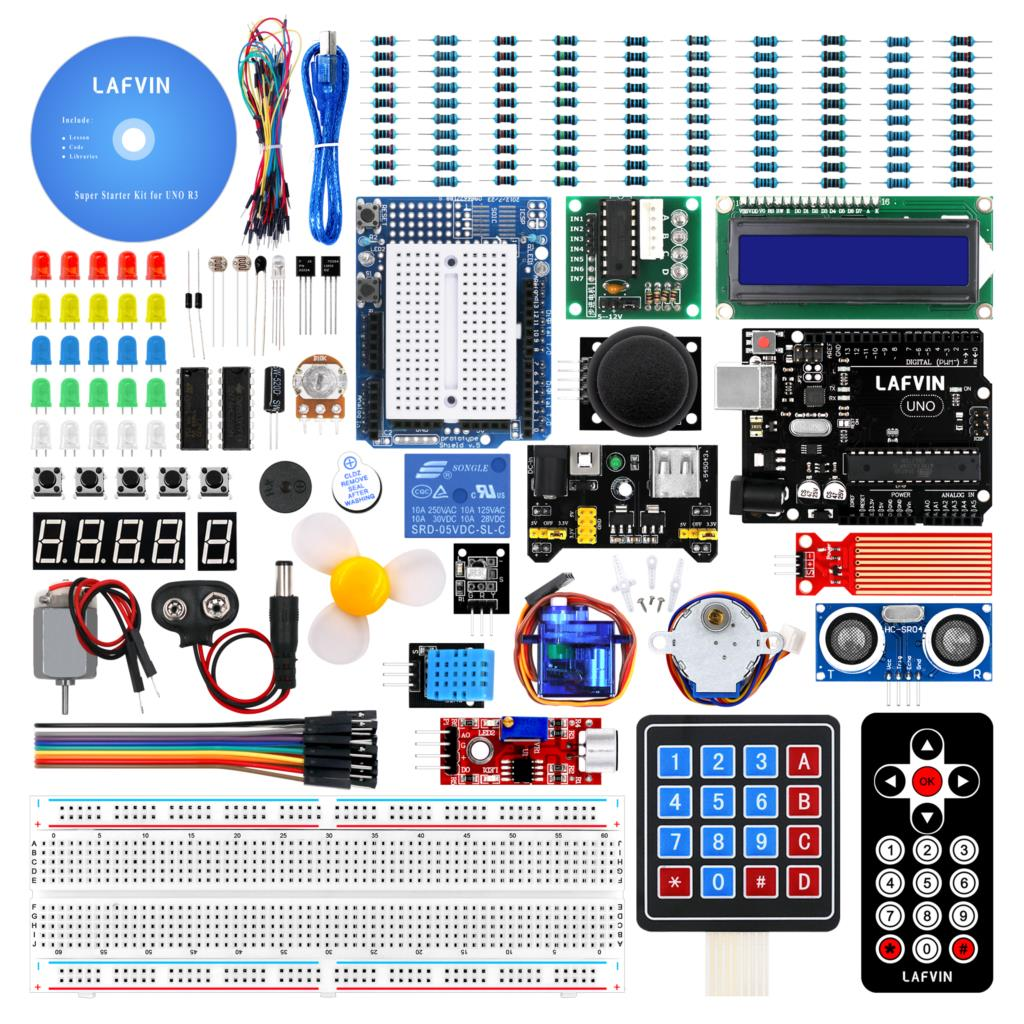 LAFVIN Super Starter Kit for Arduino UNO R3 with CD Tutorial-in Integrated Circuits from Electronic Components & Supplies
