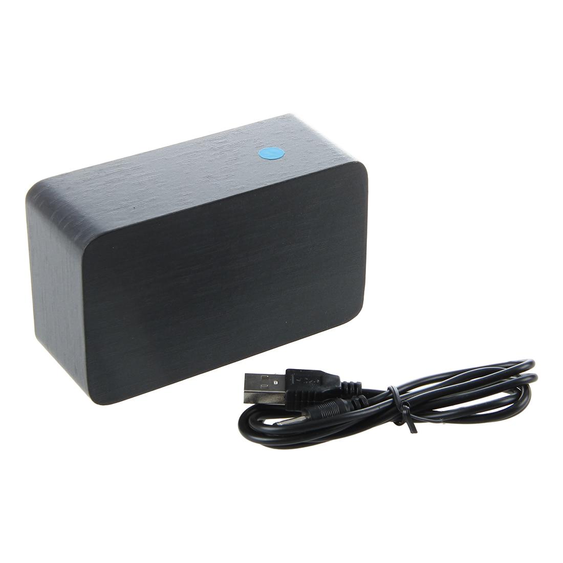 Display ALARM CLOCK MORNING ASK WOOD cube LED DIGITAL WATCH ALARM CLOCK BLACK Clocks
