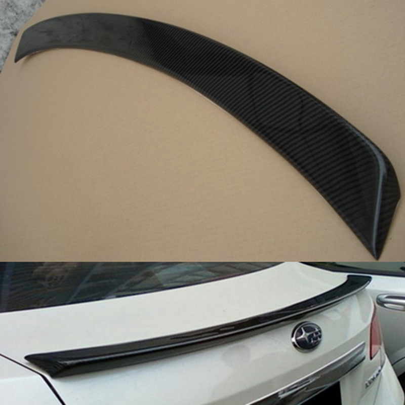 Car-Styling For subaru Legacy Carbon Fiber rear trunk boot Wing Spoiler 2010 2011 2012 2013 2014 2015 car auto accessories rear trunk trim tail door trim for subaru xv 2009 2010 2011 2012 2013 2014 abs chrome 1pc per set