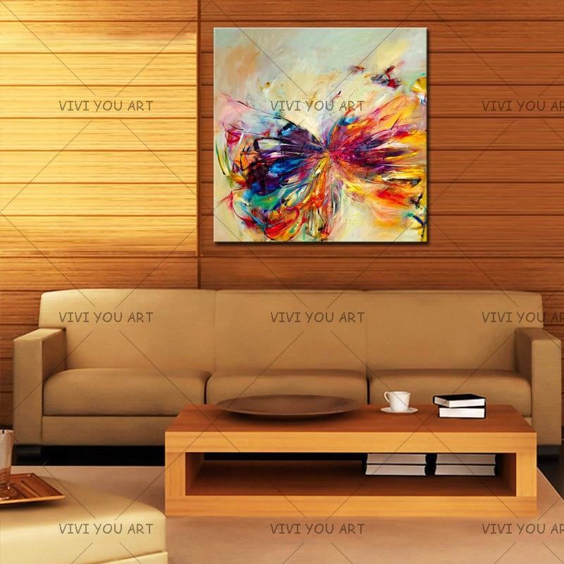Pintura al óleo sobre lienzo arte de la pared decorativa abstracta - Decoración del hogar - foto 2