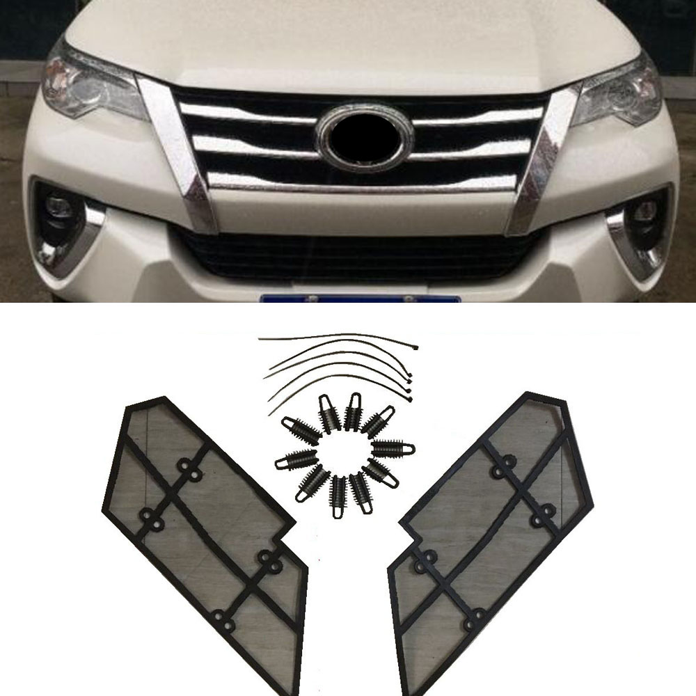 2pcs Stainless Steel Front Grille Insect Screen For Toyota Fortuner Fuse Box Location 2015 2016 2017 2018 Accessories In Radiator Grills From Automobiles
