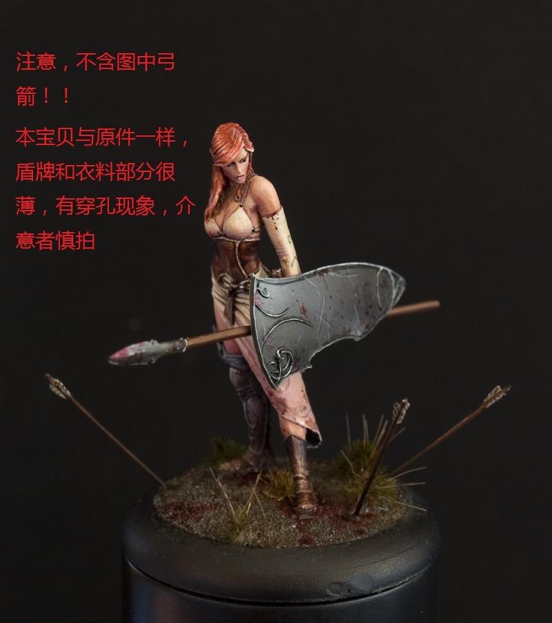 28209 Spartan Female Warrior Fantasy 28mm
