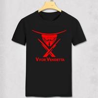 V Wie Vendetta t-shirt Anonym Maske Guy Fawkes Inspiriert Maske Revolution Herren Sommer T-Shirt O Hals Kurzarm baumwolle t-shirt