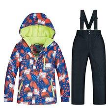 2019 children's Ski suit brands winter high quality children windproof waterproof snow suit winter boy ski and snowboard jacket