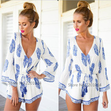 New White Summer 2016 Vestido De Festa Short Robe Sexy Jumpsuit Romper Summer Overalls for Women Tunic Bodysuit Beach Plus Size