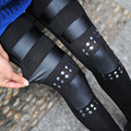drop shipping spring autumn fashion punk pants European and American new style sexy gothic leggings long skinny trousers