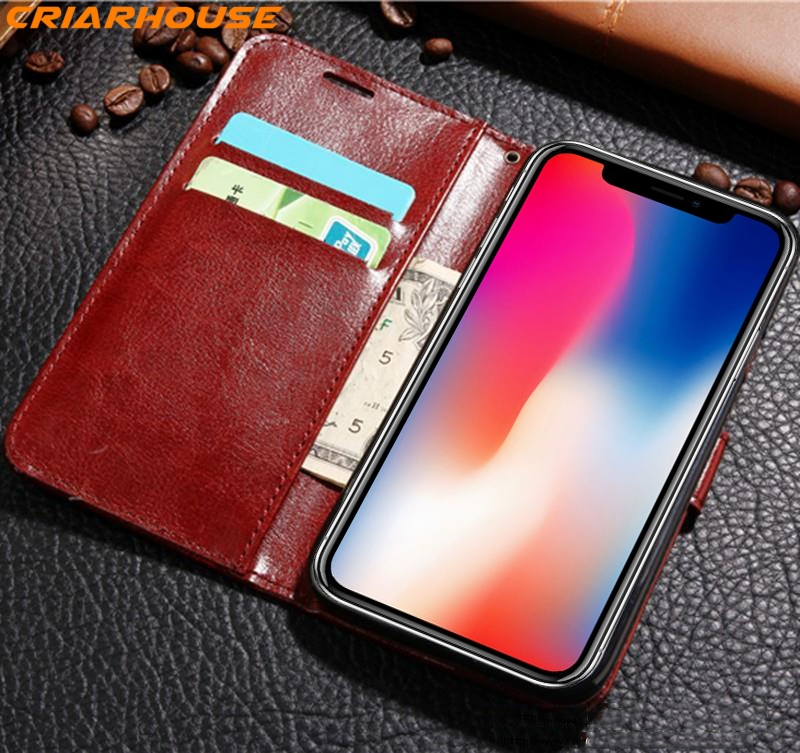 phone case for iphone 8 X 10 5 6 6s 7 8 plus Flip Wallet