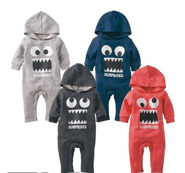 1057c98d5796 funny baby clothes halloween costumes hoody romper autumn winter infant  creepers baby boys snow suit unisex cotton coverall baby
