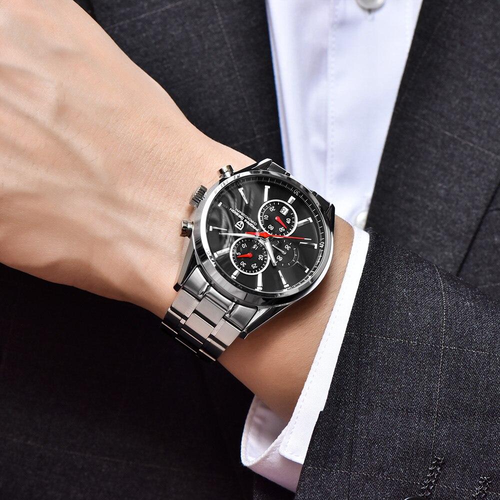 38366d60d2a PAGANI PROJETO Marca de Luxo Assista Homens de Negócios Moda Casual relógio  de Quartzo de Couro