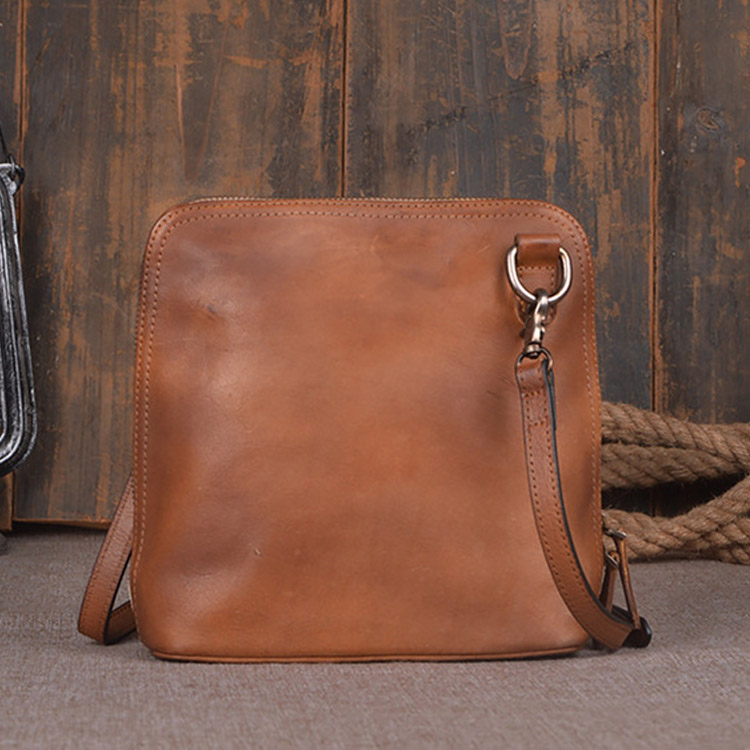 First layer of cowhide handmade women's genuine leather handbag one shoulder cross-body ladies handbag vintage brief small bag