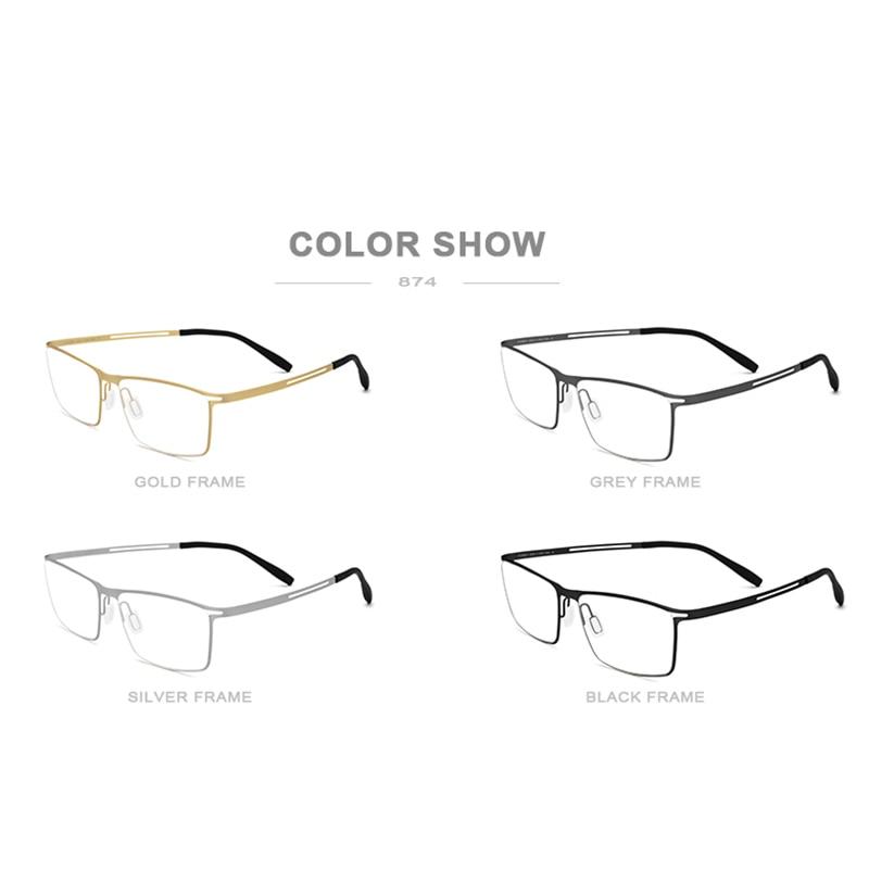 Image 5 - FONEX B Titanium Glasses Frame Men Semi Rimless Prescription Eyeglasses Ultralight Myopia Optical Frame Screwless Eyewear 874-in Men's Eyewear Frames from Apparel Accessories