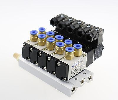 Solenoid Valve 4V110-06 AC 110V 6mm PT1/8 2 Position 5Way Connected Base Muffler 3924450 2001es 12 fuel shutdown solenoid valve for cummins hitachi