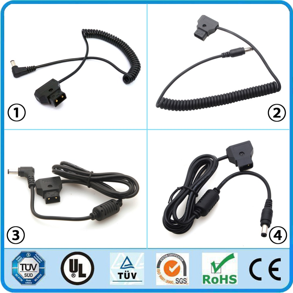 DSLR Camcorder DC Rig Male D-TAP Pro Camera Power Plug Connector