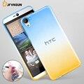 Para htc one m8 m9 m10 a9 nova gradiente cores tpu caso para htc desire eye 628 825 826 530 830 828 magro claro silicone telefone cobrir