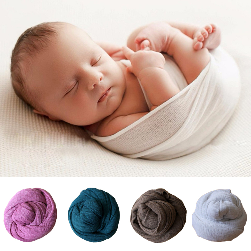 Cut Price 40 150cm Knit Stretch Newborn Photography Wraps Swaddle