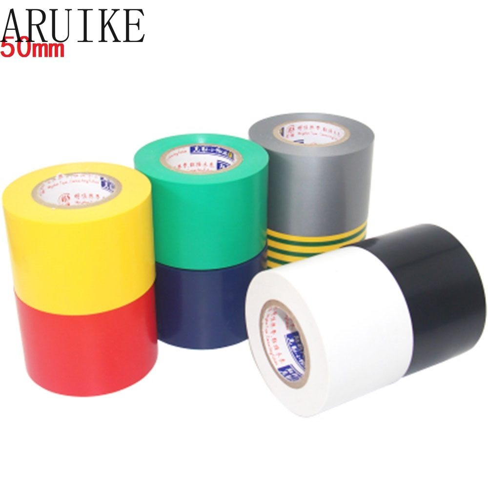 Electrical Tape 50mm X18 Meter Long 18mm Insulation  Black Large Volume Electrical  Grey/Black/White/Red/Blue/Yellow