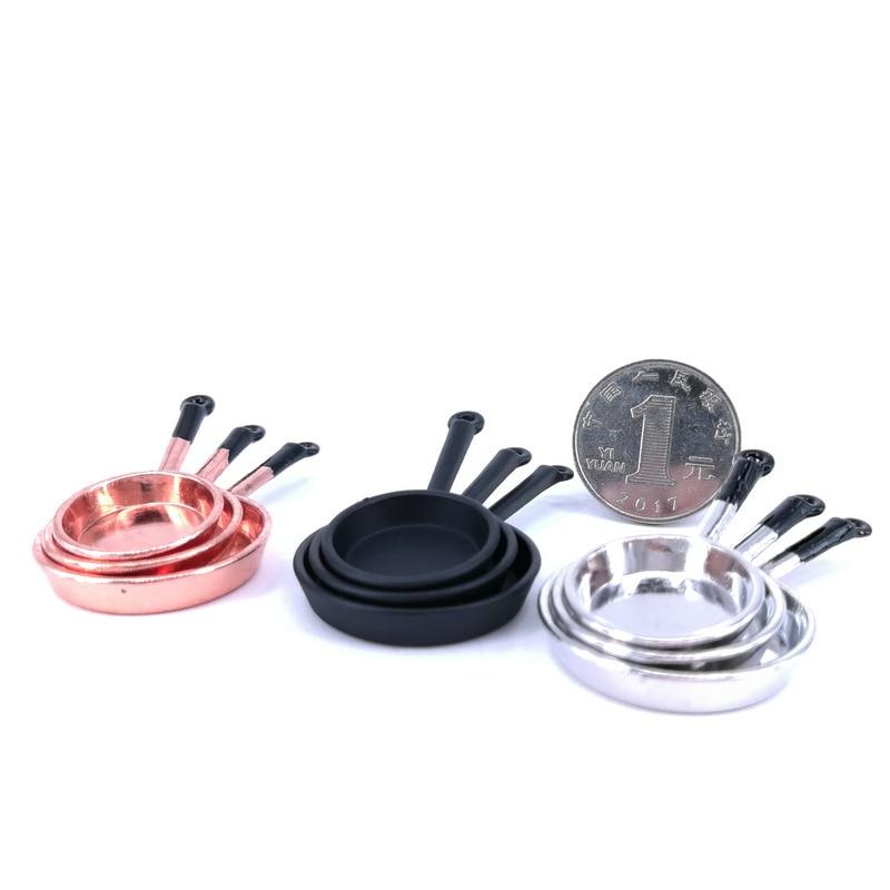 1/12 Dollhouse Miniature Stainless Steel Dinnerware Set Accessories