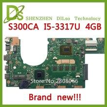 SHUOHU S300CA For ASUS S300CA VivoBook S300CA Laptop motherboard S300CA mainboard I5-3317U REV2.1  4G RAM new motherboard