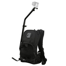 Motorcycle Bicycle Selfie Backpack for GoPro Hero 5 4 Session Yi 4K Go Pro Hero 3 Backpack SJCAM SJ4000 Camera Pole Stick