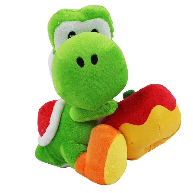 Nueva 17 Cm Yoshi Con Apple Muneca Juguetes Super Mario Yoshi Plush