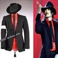 MJ michael jackson Turnê BAD Perigoso Jam Preto Punk Magro Jaqueta Blazer Terno Show de Imitação de Desempenho formal vestido de Festa