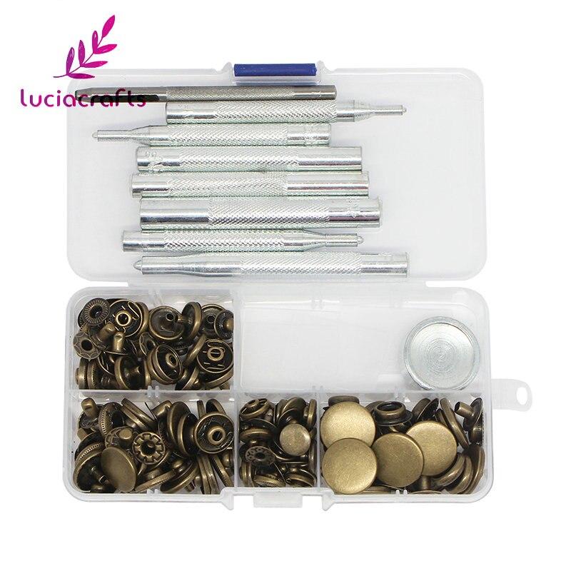Lucia artisanat 1 boîte/lot Assortiment taille En Métal Outils et Instruments Généraux BRICOLAGE Couture Boutons-pression Bouton Bouton pression 004010005 (2)